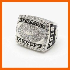 [Visit to Buy] HIGH QUALITY 2015 FANTASY FOOTBALL CHAMPIONSHIP RING SOLID SOUVENIR SPORT RINGS #Advertisement