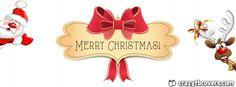 Christmas Facebook Covers: Cute Santa and Rudolph Merry Christmas Facebook Co...