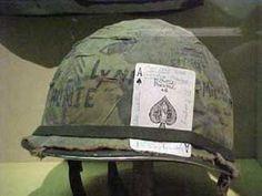 Vietnam Helmet Art | Vietnam war helmets used by American soldiers.