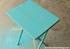 Outdoor Aqua Table Makeover