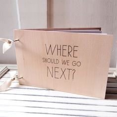 This is a fun idea -- ask your guests where your next adventure should be!