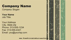 Shades of olive green and gray dominate this printable business card for a camouflage look that's ideal for military-related uses. Free to download and print Company Slogans, Company Names, Green And Grey, Olive Green, Gray, Printable Business Cards, Job Title, Camouflage, Shades