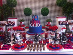 Toy soldier dessert table
