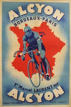 Vintage bike racing poster