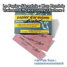 Le papier d'Arménie est connu pour parfumer et désinfecter nos maisons. Ce que l'on sait peut-être moins, c'est qu'il est efficace pour soulager l'asthme et, ainsi, remplacer quelques-uns des médicaments prescrits qui ne sont plus remboursés. Découvrez l'astuce ici : http://www.comment-economiser.fr/papier-armenie-remede-asthme.html?utm_content=buffer682c3&utm_medium=social&utm_source=pinterest.com&utm_campaign=buffer