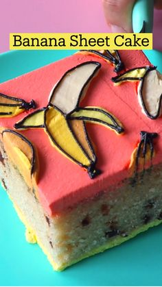 Creative Desserts, Fun Desserts, Delicious Desserts, Dessert Recipes, Yummy Food, Banana Sheet Cakes, Cupcakes, Cupcake Cakes, Tiny Food