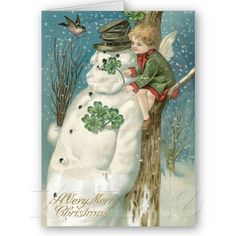 Irish Christmas Cards Authentic Vintage cards