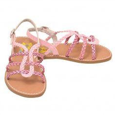 8f96cd0b31fe Rachel Pink White Flower Strap Sandals Toddler Girls 6-Little Girls 12 -  SophiasStyle.com