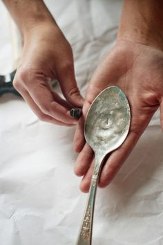 diy hammered spoons. i totally want to do this... just not sure where yet. any ideas?