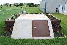 landscaping the tornado shelter