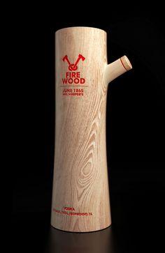 Wooden #Vodka #Packaging #Drinks