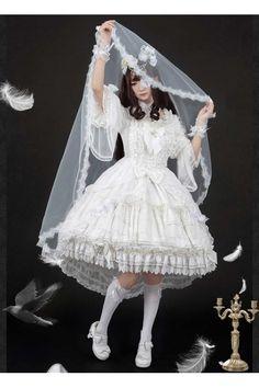 Cheap Luna Planetarium Dream Cross Gorgeous White Gothic Lolita OP Dress - Fashion Lolita Dresses & Clothing Shop