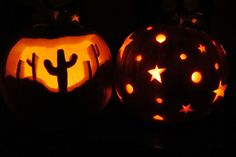 Cactus Carved Pumpkin, Star Wraparound Carved Pumpkin - Real Time - Diet, Exercise, Fitness, Finance You for Healthy articles ideas Halloween Pumpkins, Halloween Crafts, Halloween Decorations, Halloween Quotes, Happy Halloween, Halloween Witches, Halloween Halloween, Pumpkin Carving Contest, Amazing Pumpkin Carving