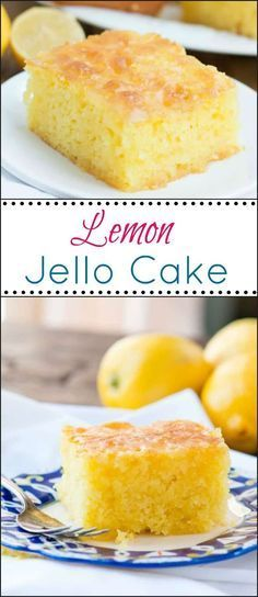 Lemon Jello Cake is perfect for anytime of the year. The fresh tastes of summer or to brighten the winter holiday meals. This Lemon Jello Cake is perfect for anytime of the year. The fresh tastes of summer or to brighten the winter holiday meals. Lemon Jello Cake, Jello Cake Recipes, Cake Mix Recipes, Recipe For Lemon Cake, Lemon Cakes, Lemon Jello Poke Cake Recipe, Easy Lemon Cake, Jello Flavors, Poke Cakes