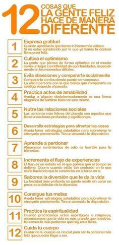 12 Cosas que la gente feliz hace de manera diferente #estudiantes #felicidad #umayor #inteligenciaemocional