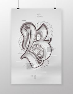 Be Still & Know by Christopher Vinca, via Behance Tattoo Fonts Alphabet, Tattoo Lettering Fonts, Lettering Styles, Calligraphy Fonts, Lettering Design, Hand Lettering, Chicano Lettering, Graffiti Lettering, Creative Lettering