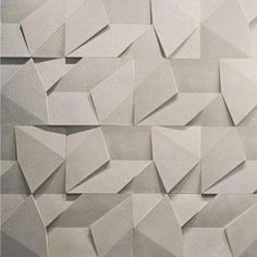 Scaleno concrete wall covering by designed by Brazilian firm Castelatto - Cement Walls, Concrete Wall, Interior Walls, Home Interior, Interior Design, 3d Wandplatten, Panneau Mural 3d, Wall Design, House Design