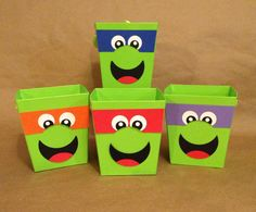 Teenage Mutant Ninja Turtles Inspired Favor Bucket or Centerpiece