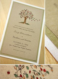 Invitation - tree / paper!!! Love this invite idea with the tree thumb print idea! Works perfect together!!! :D