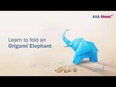 How to fold a AXA Origami Elephant - YouTube