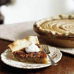 Pecan Pie with Spiked Cream Recipe   MyRecipes.com