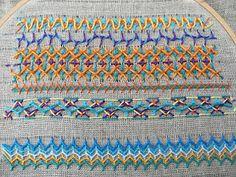 Cretan stitch sampler, these stitches are so different. Love it....