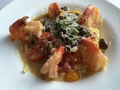 The Gamberi Allioto ($26.95) at Soprano's Ristorante had succulent shrimp over pasta with chopped tomatoes and a garlicky sauce. JANE WILSON