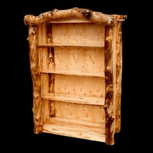 Our Handcrafted Aspen Log Bookcase From Grove