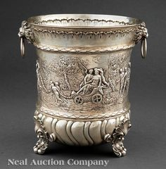Continental Silver Wine Cooler, Georg Roth & Co., Hanau, 1891-c. 1919