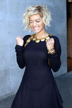 Rita Ora celebrates her new single at the BBC Studios.
