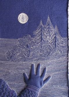 Free motion moon and sky by Lizzie Lenard (UK)