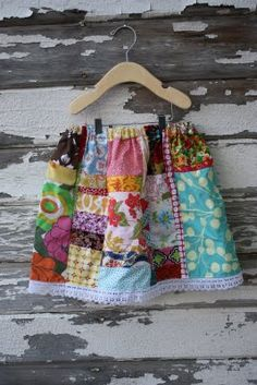 Vintage Fern: Scrappy skirt tutorial