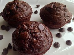 Chocolate Zucchini Muffins - My kids LOVE these for breakfast!
