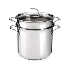 Amazon.com: Scotto Pasta Pot Stainless Steel Cookware with Leaf Handle, 16…