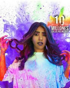 #10millones en los polinesios #hairstyle #colorlife i´m the queen