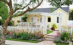 Cute little yellow cottage