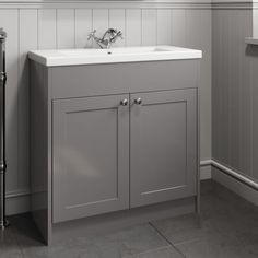park-lane-grey-traditional-floor-standing-vanity-unit-basin-800mm-width Traditional Vanity Units, Traditional Furniture, Timeless Bathroom, Classic Bathroom, Fitted Bathroom Furniture, Basin Mixer Taps, Basin Sink, Bathroom Shop, Bathroom Color Schemes