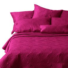 DKNY™ Fuschia Chrysanthemum Quilt and Accessories