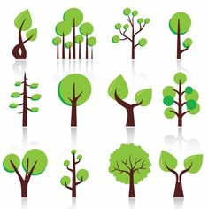 12 tree icon vector free download - free vector art... more small tattoo ideas!