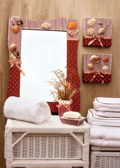 Kit de decoração para o banheiro - Portal artesanato