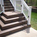 Decoration, Deck Steps With Flared Design: Building Deck Stairs in Simple Way