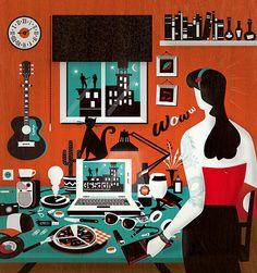ilustración para 365ddf. www.raulgomez.es
