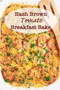 Hash Brown Tomato Breakfast Casserole