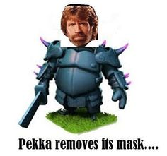 Lol. Clash of Clans Chuck Norris joke
