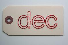 large december embroidered tag by elizabethrosemond on Etsy