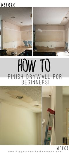 Home Improvement Hacks. - Mud a Dry Wall - Remodeling Ideas and DIY Home Improve. - Home Improvement Hacks. – Mud a Dry Wall – Remodeling Ideas and DIY Home Improvement Made Easy - Diy Wand, Home Renovation, Home Improvement Projects, Home Projects, Trailer Casa, Drywall Finishing, How To Finish Drywall, How To Install Drywall, Basement Finishing