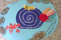 """""""Sharing a shell"""" craft lovely book for summer theme by Julia Donaldson Art For Kids, Crafts For Kids, Arts And Crafts, Sharing A Shell, Lighthouse Keepers Lunch, Julia Donaldson Books, Crab Crafts, Class Displays, Ocean Unit"""