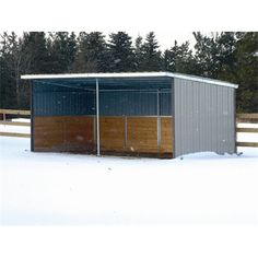 Horse Run In Shed - 10' x 20' - System Fencing