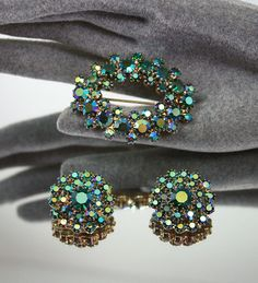 vintage brooch & earrings