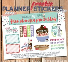 Free Printable Baking Planner Stickers from Dorky Doodles